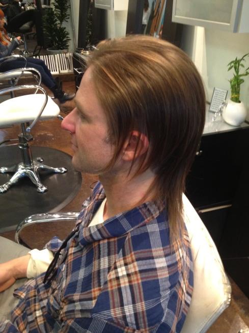 Platinum Blonde And Raspberry Highlights   Dark Brown Hairs