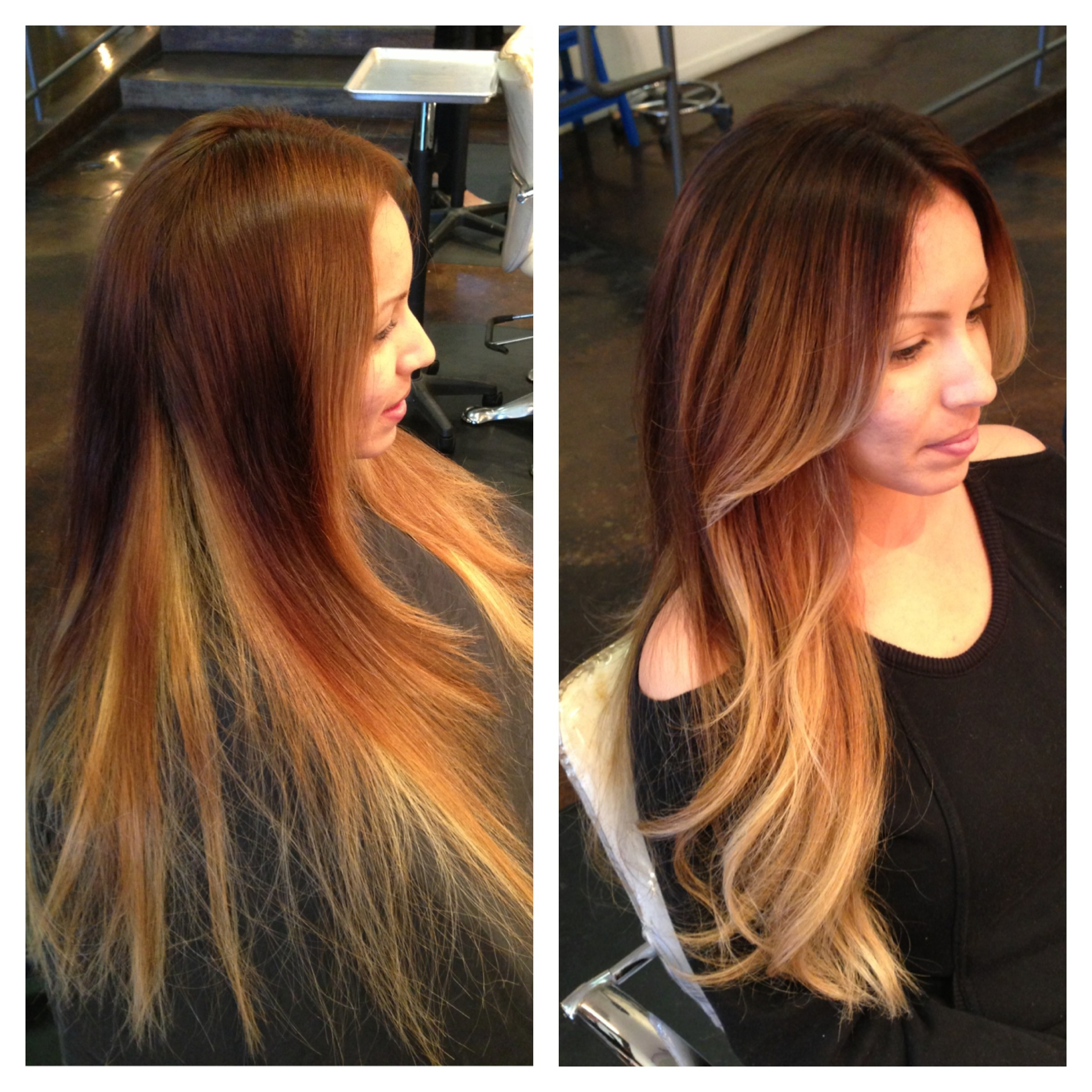 Before And After Color Correction Andrea Miller Hair The Lab A