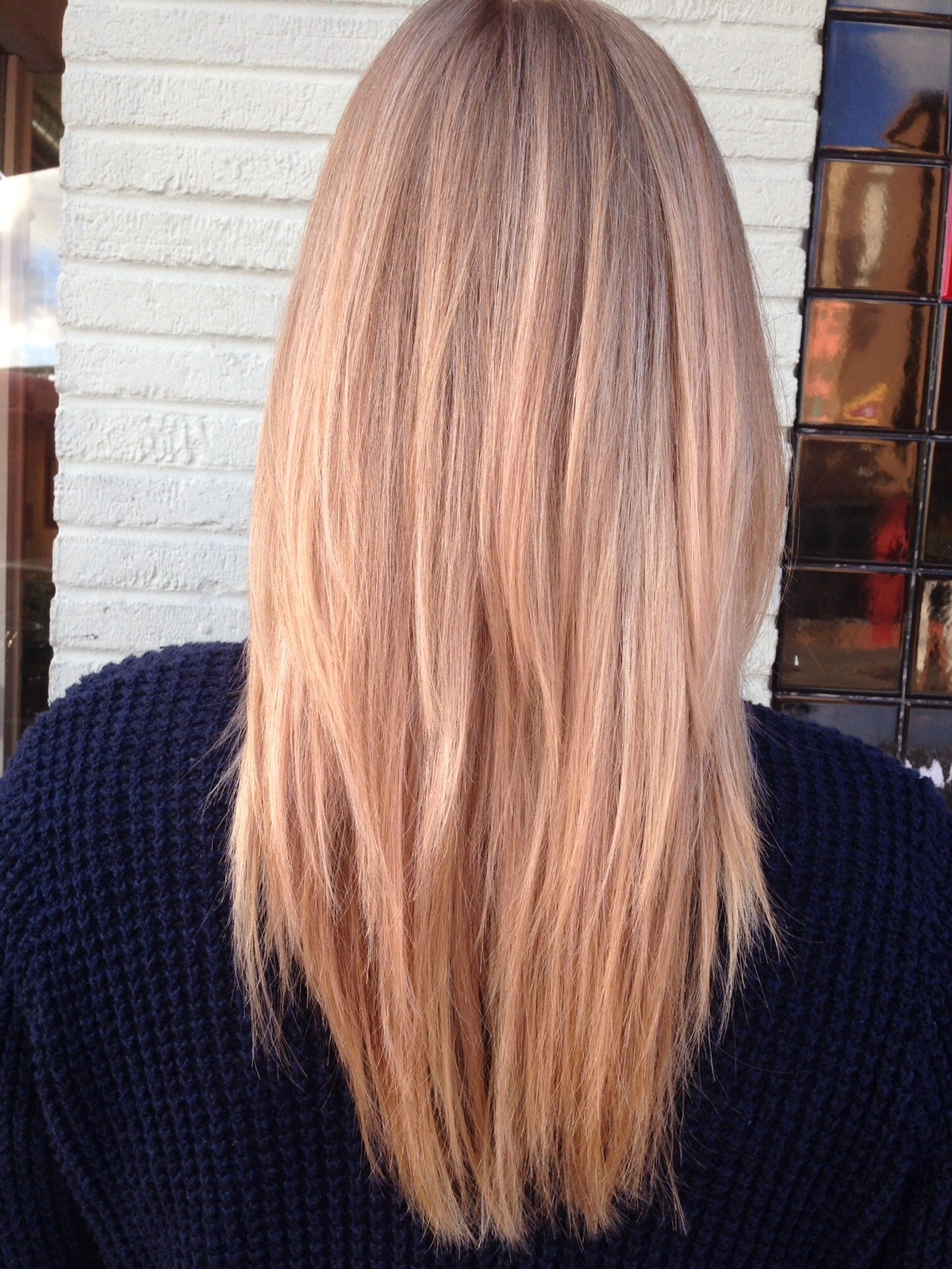 Andrea MillerLeFevre Hair Champagne Boone Rose Gold Blonde Balayage The