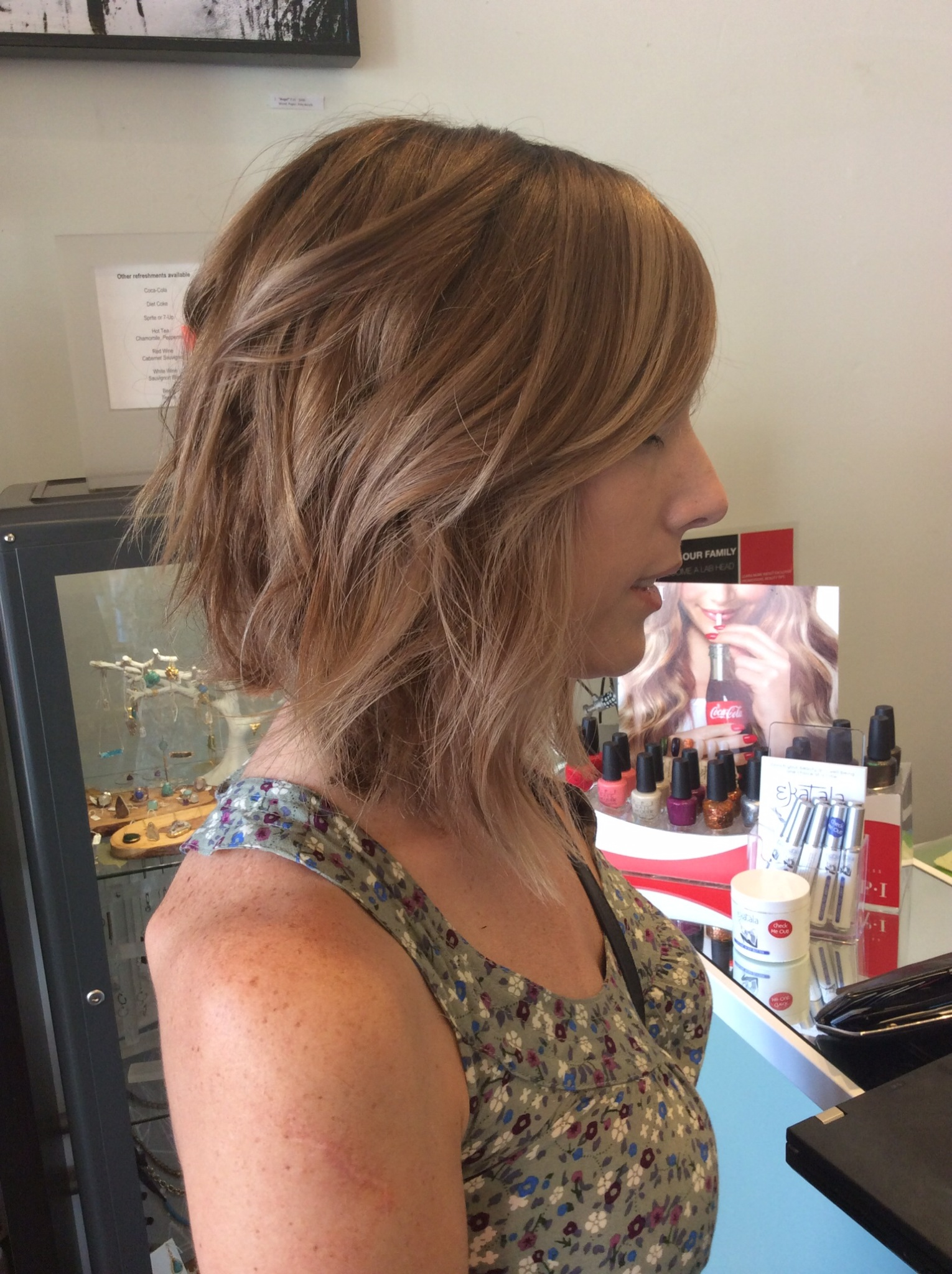 Hair Painting Balayage Ombre Ash Blonde Light Brown Sombre San