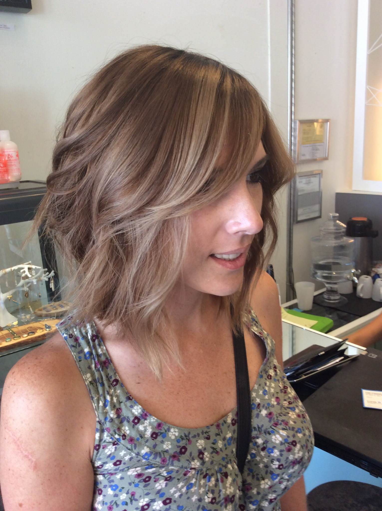 Hair Painting Balayage Ombr Ash Blonde Light Brownsombre San