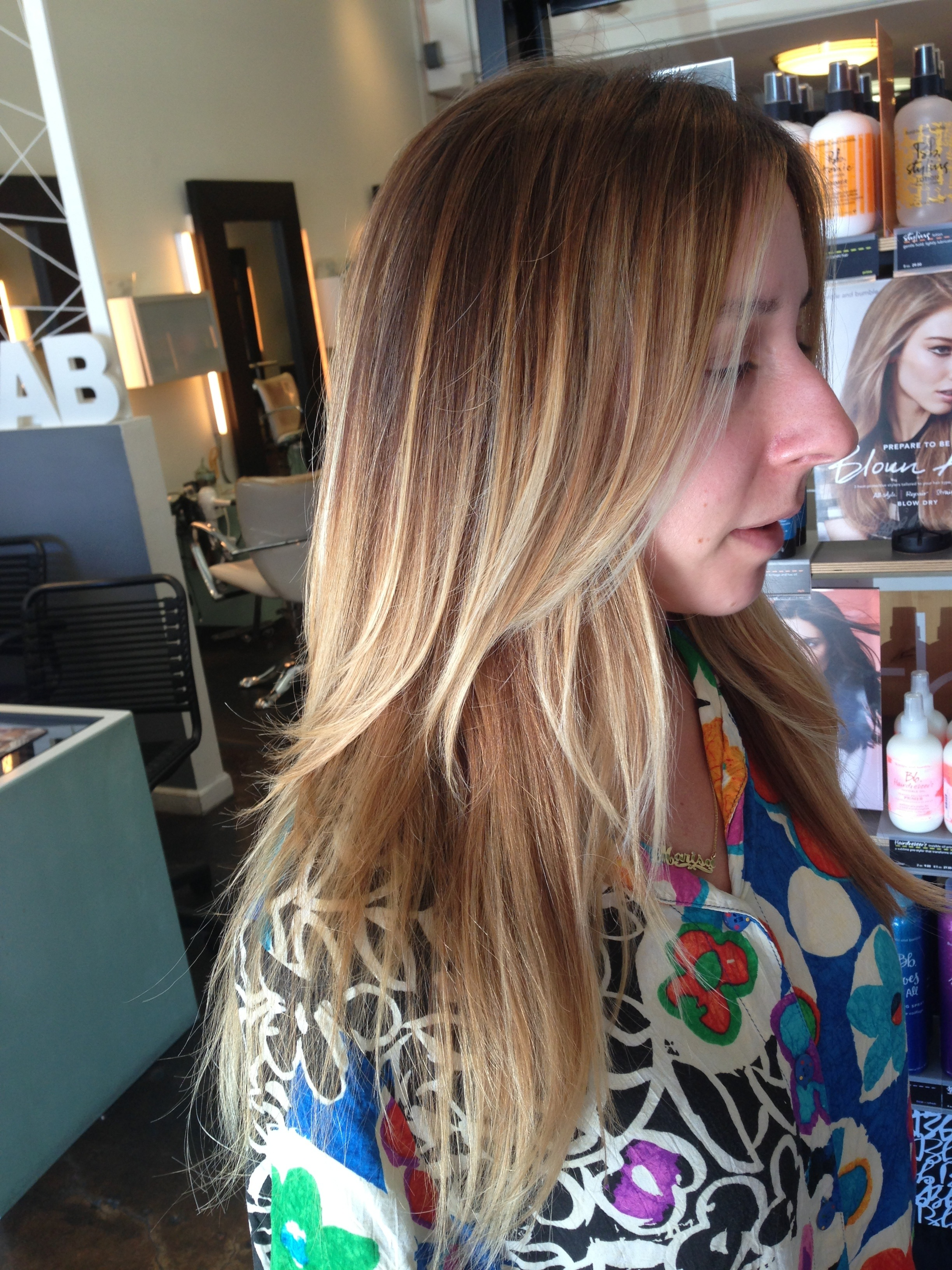 blonde ombre. san diego balayage specialist, hair painting, hair