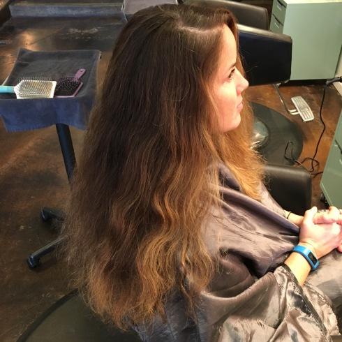 curly hair, balayage hair painting San Diego, blonde specialist San