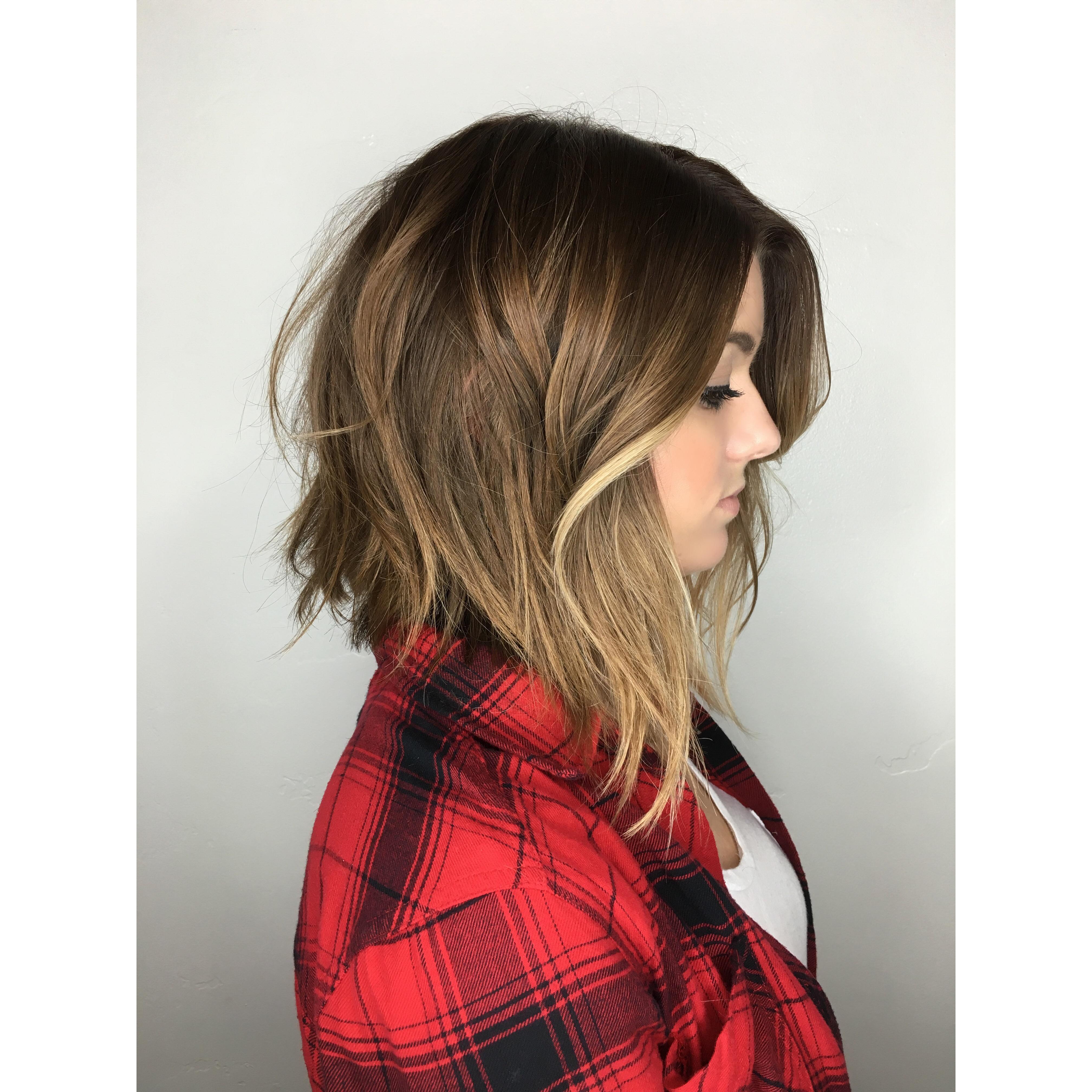 Soft Undercut Ombré Hair Painting Andrea Lefevre